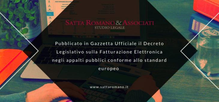 Decreto Legislativo sulla Fatturazione Elettronica negli appalti pubblici